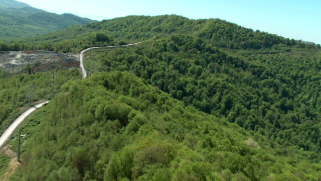 Aerials of the Sochi Mountains in 2012 / Russia. Sochi video