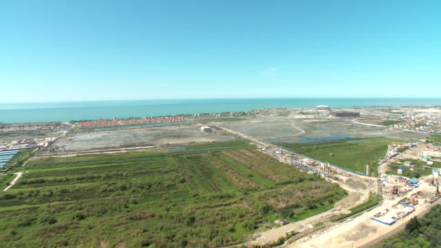 Aerials over the construction of sports facilities for the Sochi Olympics Game / Russia. Sochi video