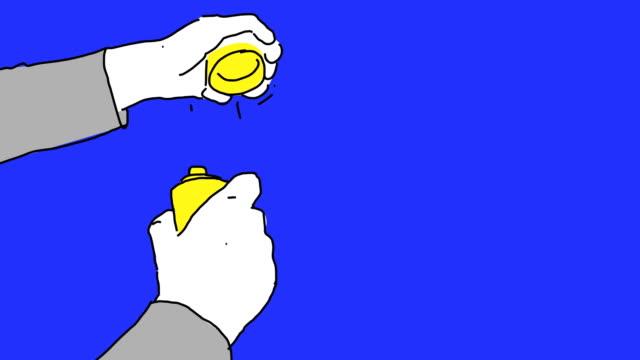 Aerosol Paint Cartoon Style video