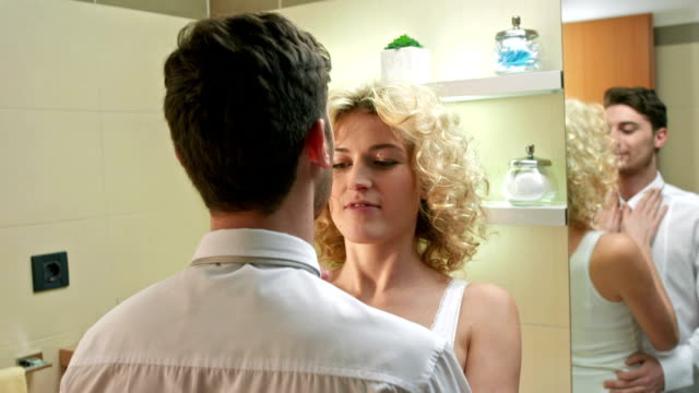 Affectionate Couple In The Bathroom video