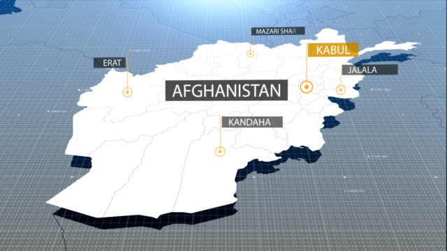 Afghani map with label then with out label video