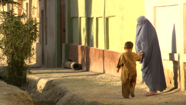 Afghanistan. Afghan woman with burkha video