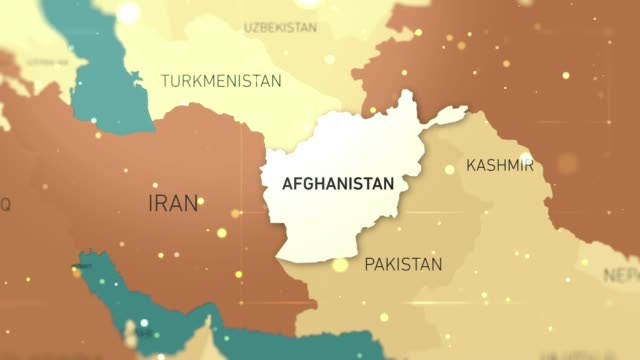 afghanistan on world map stock video - hiroshima filmów i materiałów b-roll