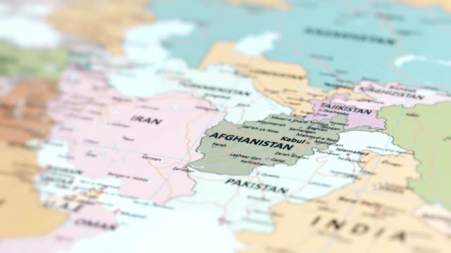 ASIA Afghanistan on World Map video