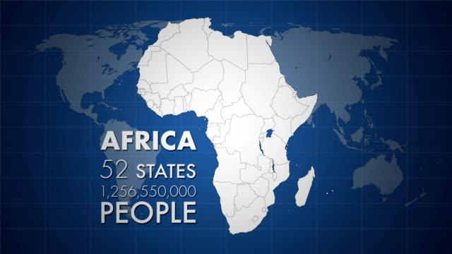 hd africa animazione - sierra leone video stock e b–roll