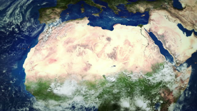 Africa from space. video