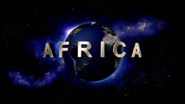 Africa title - the Earth from space showing all they beauty video