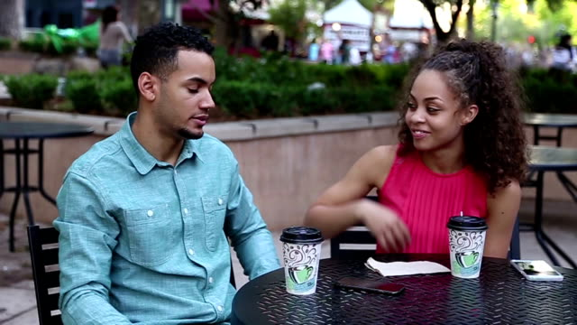 African American Couple on a Date He Ignores Her video