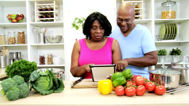 African American Couple Wireless Tablet App Online Healthy Website video