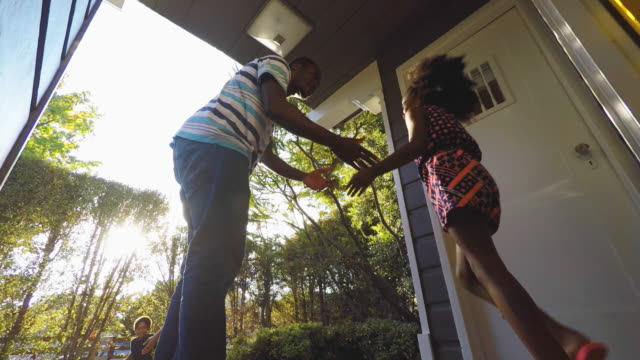 African American Family Leaving the House video