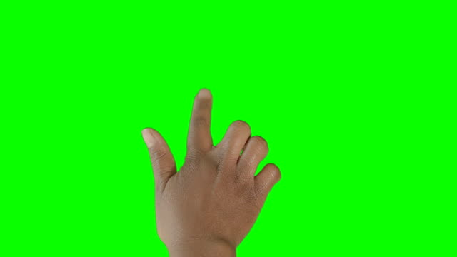 HD: African American Hand Clicking on Green Screen video