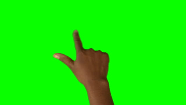 hd: african american hand using a one finger swipe for scrolling in both directions - kciuk filmów i materiałów b-roll
