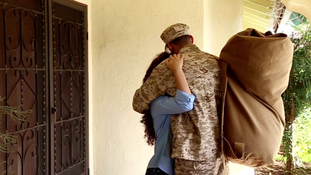 African American Military Man Leaves for Deployment video
