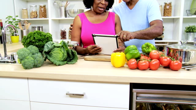 African American Seniors Kitchen Wireless Technology video