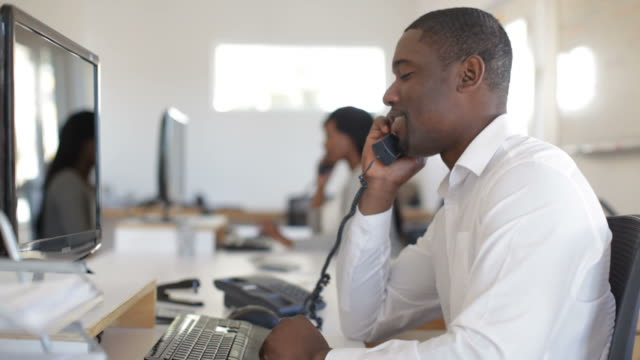 African Businessman on the Phone video