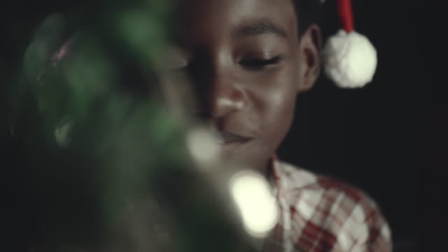 African Children Eating Christmas Cookie