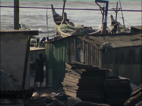 African coastal town. video