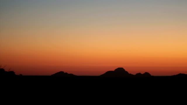 African desert at sunset, panning shot video
