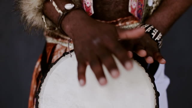 African Djembe drumming smile video