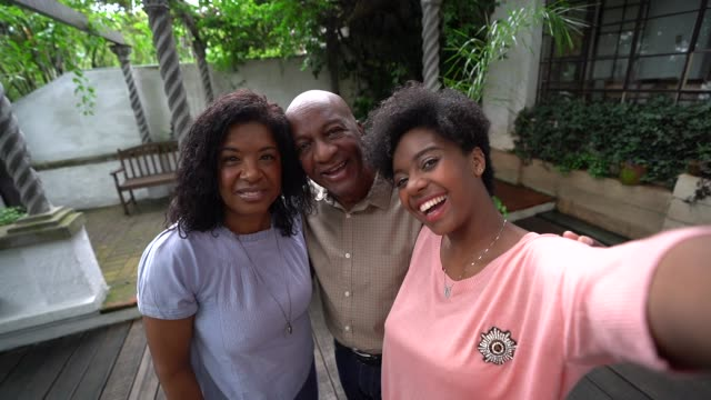 African Family Taking a Selfie Self Portrait 50 59 years stock videos & royalty-free footage