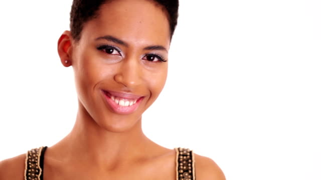 African girl posing and smiling African girl flirting posing and smiling lip liner stock videos & royalty-free footage