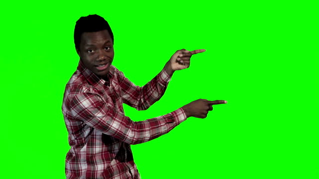 African man pointing video