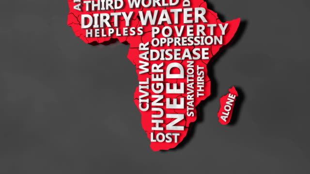 African Map and Word Cloud video