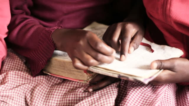 African School Girls reading the Bible video
