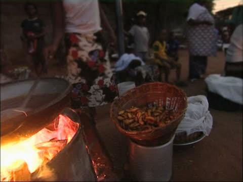African streetfood. video