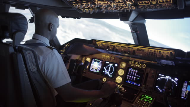 African-American pilot flying over northern California video