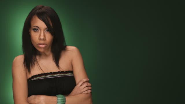Afro-americana donna arrabbiata - video