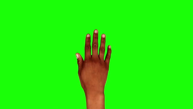 Afro-American female hand. Tablet. Touchscreen gestures. Green screen. video