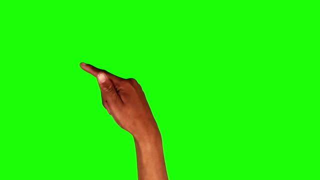 Afro-American female hand. Tablet. Touchscreen gestures. Green screen. Set of 13 hand gestures, showing the uses of computer touchscreen, tablet or trackpad. Full HD. Animation created exclusively for iStockphoto. finger stock videos & royalty-free footage