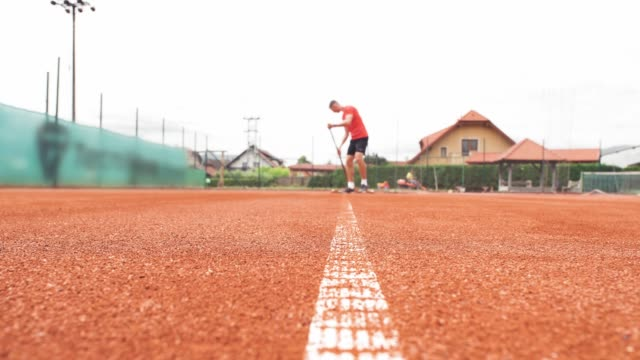 after every match you must tow the tennis court - target australia stock videos & royalty-free footage