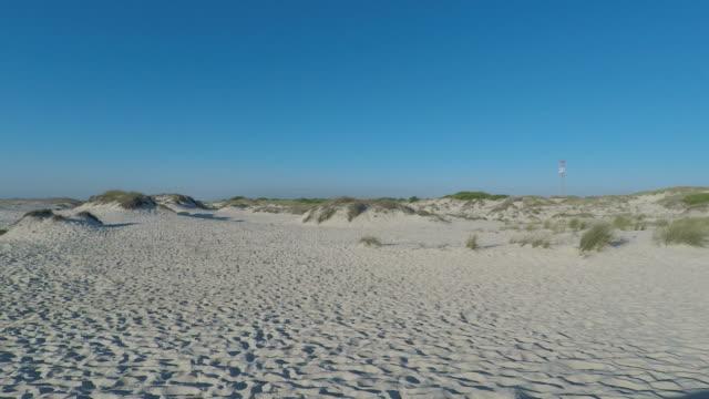 vídeos de stock e filmes b-roll de afternoon at sand dunes of sao jacinto beach in portugal - aveiro