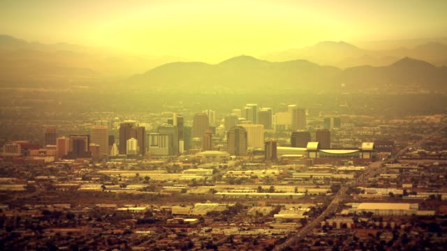 Afternoon Hours in the City of Phoenix, Arizona. United States of America. November 20, 2017. Afternoon Hours in the City of Phoenix, Arizona. United States of America. November 20, 2017. heat haze stock videos & royalty-free footage