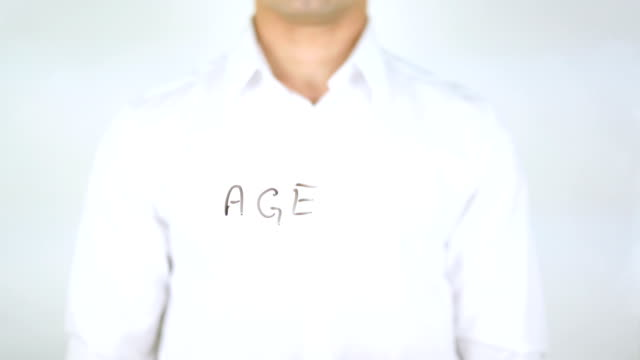 Age, Man Writing on Glass video