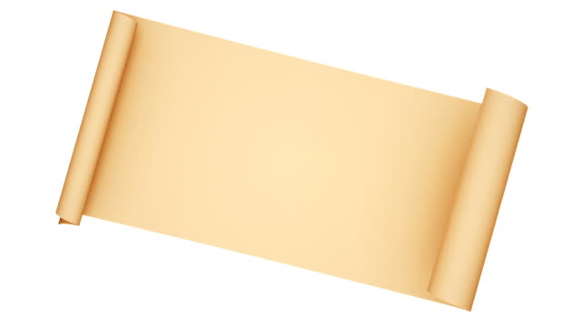 gealterte papier-scroll-animation - schriftrolle stock-videos und b-roll-filmmaterial