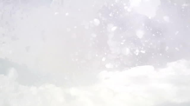Aggressive Skier splashing snow into camera slow motion video video