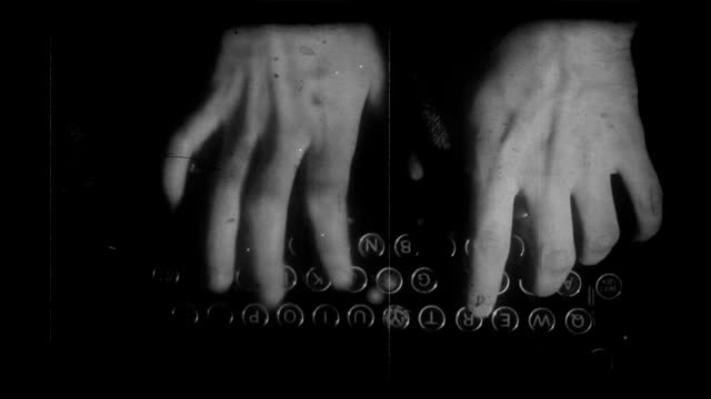Aging 35 mm film typewriter Full HD video