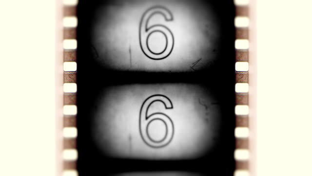 Aging film countdown Full HD video