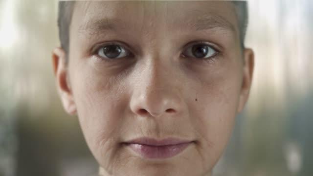 Aging, getting older, closeup, time lapse. Series. Eyes detail.
