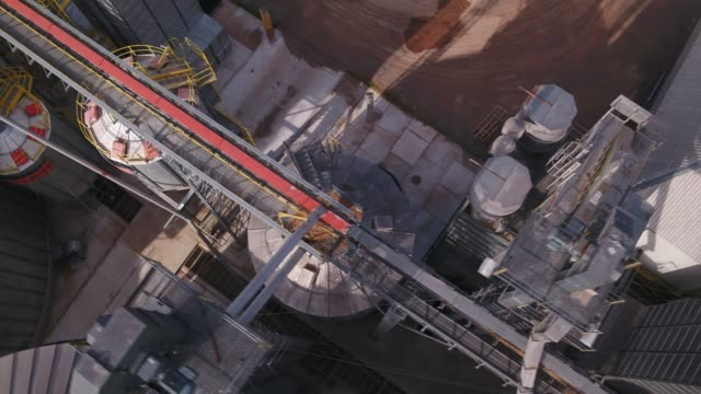 Video Agricultural silo aerial view