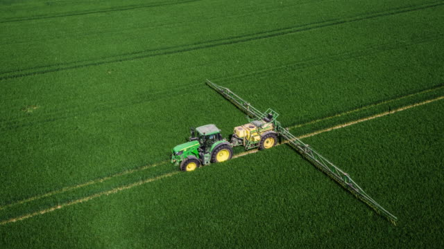 AERIAL: Agriculture - Crop Sprayer Tractor video
