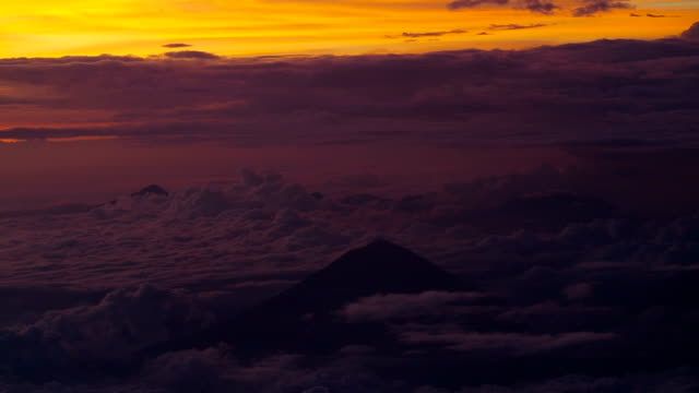 Agung Volcano at Sunset video