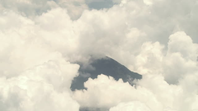 Agung Volcano in Clouds, Bali, Indonesia video