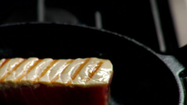 HD Ahi Tuna Grilling, Flipped video