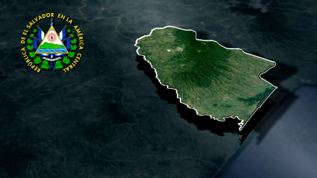 Ahuachapan with Coat Of Arms Animation Map