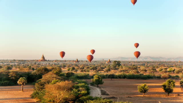 Air Ballons Bagan Temples video