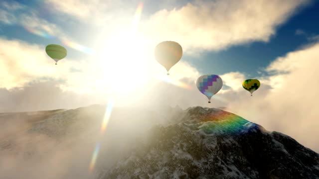 Air Balloon Over Peak Mountain video